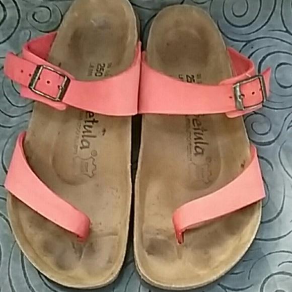 BIRKENSTOCK Betula STRAPPY Brown Croc Sandals Womens 8/39